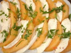 Melon et mozzarella