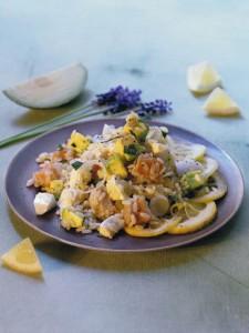 salade de riz saumon et mozzarella